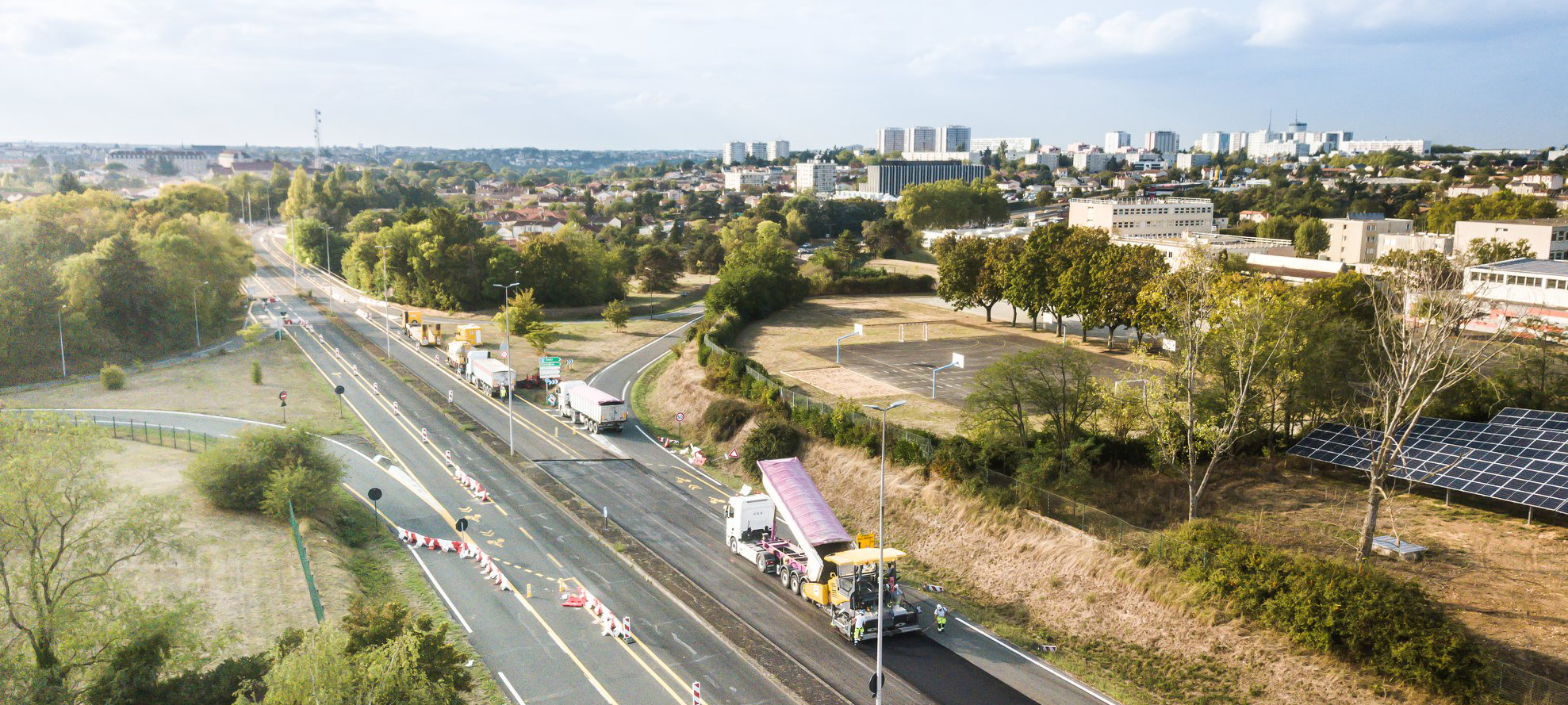 route poitiers drone